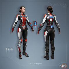 Sci-Fi Armor - Alice Quinn [NPC] by CG-Zander on DeviantArt
