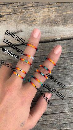 Wire Jewelry Rings, Seed Bead Jewelry, Bead Jewellery, Beaded Rings, Cute Jewelry, Beaded Jewelry, Beaded Bracelets, Jewlery, Jewelry Necklaces
