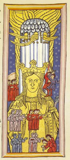 """St Hildegard von Bingen ~ Mystic, Benedictine Abbess, Visionary, Composer, Philosopher & Doctor of the Church:  """"I, the fiery life of divine wisdom, I ignite the beauty of the plains, I sparkle the waters, I burn the sun, and the moon, and the stars."""" Hildegard said that she first saw """"The Shade of the Living Light"""" at the age of three and by age five she began to understand that she was experiencing visions."""