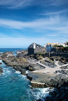 Garachico Tenerife Canarias Spain.Canary Islands Spanish archipelago located just off the southwest coast of mainland Morocco, 100 kilometres (62 miles) west of the southern border of Morocco, in the Atlantic Ocean, NORTHWEST of AFRICA.