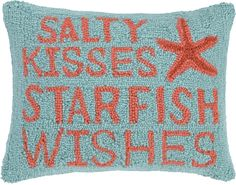 Stalty Kisses Starfish Wishes Pillow: $39