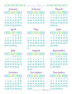 Diy Printable Yearly Calendar   Calendar