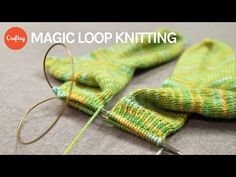 Knitting in the Round - Magic Loop - YouTube