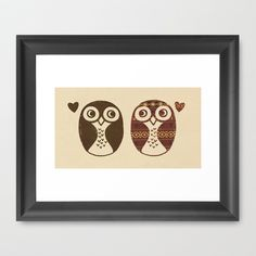 Opposites Attract Framed Art Print by Terry Fan - $35.00
