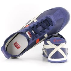 368ede2895 Onitsuka Tiger Mexico 66 Navy Mens Trainers
