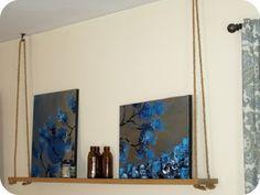 DIY swing shelf