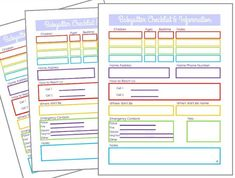 Leaving your children with a new babysitter can be very stressful. This printable babysitter information sheet will relieve your worries. Babysitter Printable, Babysitter Checklist, Daily Planner Printable, Happy Birthday Jesus, Cool Kids, Kids Fun, Stressed Out, Babysitting, Girl Scouts