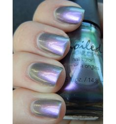 """Spoiled by WnW Nail Polish """"Paying With Platinum"""" Multichrome Metallic *No Fee $3.50"""