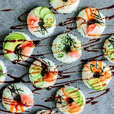 Vegetable Sushi Donuts via feedfeed on https://thefeedfeed.com/lumadeline/vegetable-sushi-donuts