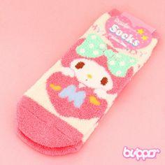 Fluffy Pastel My Melody Socks