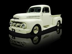 Ford LOve This Truck! Imagine this in glossy black and you would see my very first vehicle---Granny. We had a ton of fun. 1951 Ford Truck, Old Ford Trucks, Old Pickup Trucks, Toyota Trucks, Antique Trucks, Vintage Trucks, Classic Pickup Trucks, Us Cars, Cool Trucks