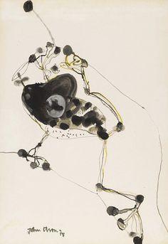 Frog and Fly are constant companions.   By JOHN OLSEN  for  Mahoneys Framing.     http://www.mahoneysframing.com.au/artist/john-olsen/