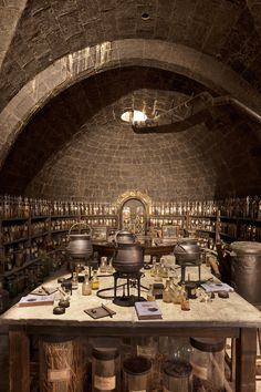 I thought this was the coolest potion room and reminded me of the one in the back room of the Right Magic shop. I could picture David or Gramps working in here. #monsternight #pbazeltine