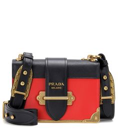 Prada - Cahier embellished leather shoulder bag - Opt for an instant icon  with Prada's Cahier 0edb6f9e88e0