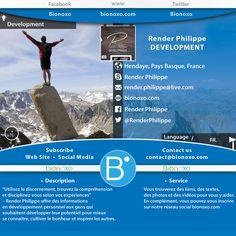 #Vivez & #Participez aux #Développements de vos compétences dans un des secteurs chez www.bionoxo.com de santé et bien-être. Si vous souhaitez faire partie de nos #partenaires ou parmi nos équipes expérimentées, n'hésitez pas à nous contacter pour tous renseignements #Email contact@bionoxo.com  #Présentation générale & #Informations pratiques:  • Partner: Render Philippe • Sector: Development • Map: Hendaye, Pays Basque, France