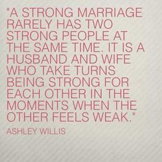 Strong marriage: Be their soft place to fall...then lift them up