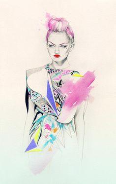 Natalia Sanabria Fashion Illustrations  