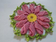 Flor Girassol  em Croche com linhas Cléa