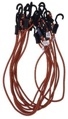 HTB-6057 6 inch Long Black Ball Bungee Cords Long Tail Industry 25 Pack