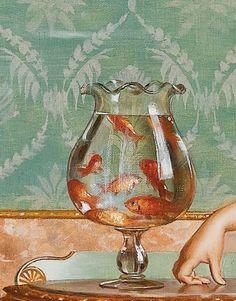 admiring the goldfish - vittorio reggianini January 07 2020 at Aesthetic Painting, Aesthetic Art, Renaissance Kunst, Creation Art, Arte Obscura, Art Hoe, Classical Art, Old Art, Pretty Art