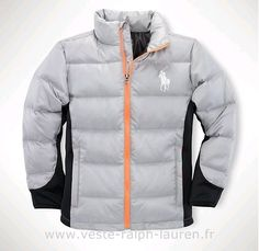 boutique Ralph Lauren doudoune hommes pas cher 2013 big pony coton casual blanc Doudoune Royal Polo