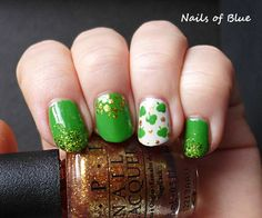 Two by two, Nails of blue: FingerFood's Theme Weeks - St Patrick's Day