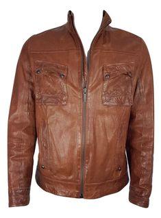 Nu in de  Catawiki veilingen  Hugo Boss - leather jacket - slim fit 3a7219bdc2
