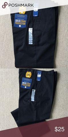 Black Men's non-pleated pants NWT Men's Black pants - flat front, new.  34x32 Club Room Pants