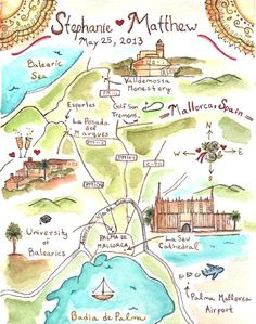 mallorca wedding map