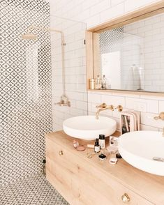 bathroom inspiration modern bathroom style inspiration Tips For Bathroom Design You might be buildin Feminine Bathroom, Minimal Bathroom, Small Bathroom, Bathroom Wall, Bathroom Ideas, Neutral Bathroom, Washroom, Bathroom Organization, Boho Bathroom