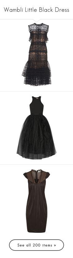 """Wambli Little Black Dress"" by wambliwakan ❤ liked on Polyvore featuring dresses, tiered lace dress, short lace dress, lace dress, short lace cocktail dress, lace sheath dress, платья, black, gowns and ponte knit dress"