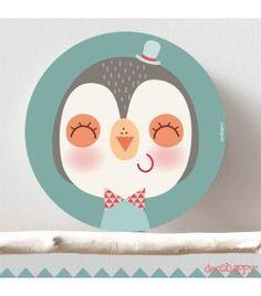 Cuadro infantil Pinguino guapo