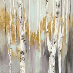 Trademark Fine Art 'Silver Birch II' Canvas Art by Julia Purinton, Size: 18 x 18 Canvas Artwork, Canvas Prints, White Birch Trees, Painting Prints, Art Prints, Art Paintings, Landscape Paintings, Tree Canvas, Find Art
