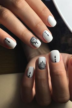 #white #manicure #black #nails #love #nailart #gelnails #nail #naildesign #art #beauty #beautiful #gelpolish #nailswag #style #nailpolish #gel White Manicure, Swag Nails, Gel Polish, Gel Nails, Nailart, Nail Designs, Beautiful, Beauty, Style