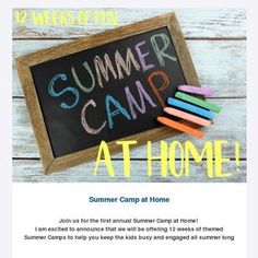 Fun activity ideas coming your way! 12 weeks of summer camp at home