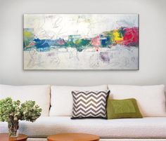 Custom Large Abstract Wall Art. Abstract Painting Made To Order Any Color. Contemporary Modern Abstract Wall Painting. $171.00, via Etsy.