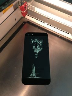 Apple iPhone 5 engraving - Wolf by www. Wolf, Laser Tattoo, Apple Iphone 5, Cool Phone Cases, Awesome Things, Tattoo Ideas, Ink, Tattoos, Laser Engraving