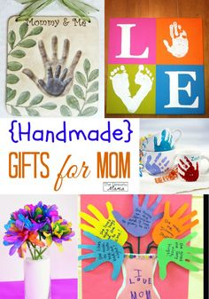 Mother's day crafts for kids -- these make the best gifts for mom this mother's day!