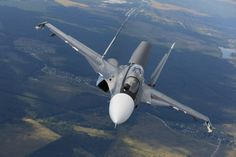 """Russian Air Force Sukhoi Su-30M2 """"Flanker-C"""" fighter."""