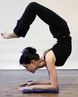 Scorpion Yoga Pose  Peak pose in today's Advanced Vinyasa class.