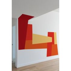 Thinking of getting this - Blik Wall Decal - Color Block Slant