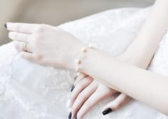 Bridal bracelet from Sugar Quartz and Freshwater Pearl
