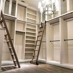 The Library Ladder Company Master Closet Design, Walk In Closet Design, Master Bedroom Closet, Closet Designs, Online Closet Design, Closet Renovation, Closet Remodel, Library Ladder, Closet Library