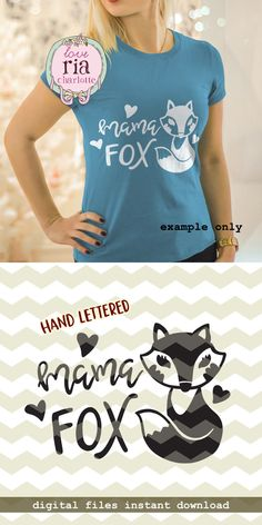 Mama fox, foxy mama mother mom cute fun digital cut files, SVG, DXF, studio3 for cricut, silhouette cameo, diy vinyl decals instant download by LoveRiaCharlotte on Etsy