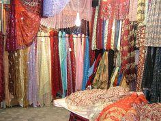 Kurdish fabric store in Sanandaj, Iran by peggyhr, via Flickr