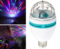Woworld Multi Changing Color Rotating LED Strobe Bulb for…