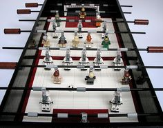 lego starwars foosball table