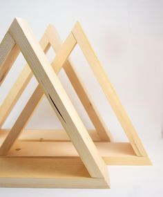 How to Glue Metal to Wood - DIY Triangle Shelves   iLoveToCreate