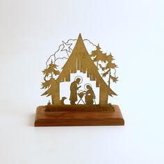 Vintage Christmas Nativity Christmas Decoration West Germany by efinegifts on Etsy