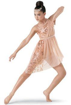 Weissman™   Embroidered Asymmetrical Dress